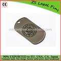 Nosotros etiquetas ejército perro/militar dog tags/impreso el logotipo de las etiquetas de perro