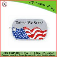 America flag dog tags/ customized flag dog tags