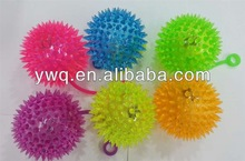 flashing masssage ball flashing spiky ball long hair puffer ball