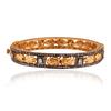 18K Yellow Gold Rose Cut Pave Diamond Bangle,Sterling SIlver Ruby Bangle,18K Gold Diamond Pave Designer Jewelry