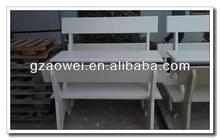 white artificial quartz stone for chair
