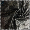 100 polyester lace fabric bonded TPU/chemical lace fabric/black lace fabric