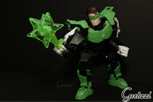 Decool Green Light Man free moving joint Super Heroes model adornament action figure