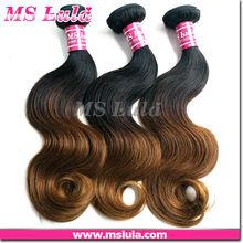 human hair complete cuticle natural wavy virgin hair ombre brazilian hair