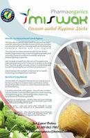 Peelu Miswak in vacuum sealed, Hygenic Packaging