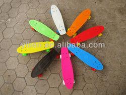 customized mini cruiser skate board,plastic penny board,complete nickel longboards