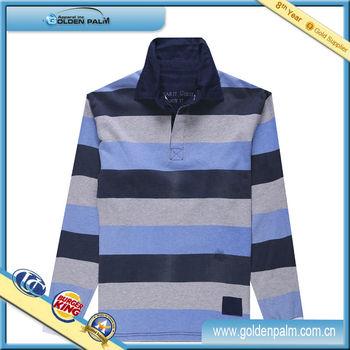 Long sleeve stripe polo shirt fabric