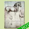 رسم خط الحصان اللوحات الكلاسيكية، الكلاسيكية الفن التجريدي اللوحة التجريدية الحصان رسم خط هيكل، الجدار الديكور pictur