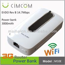 CDMA EVDO Rev. B wifi router with sim and power--- M10E