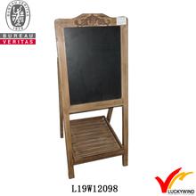 fold antique wooden chalk writing blackboard