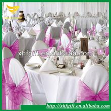 Pink organza sash for wedding ceremony