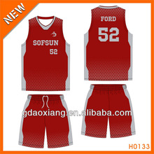 Wholesale breathable fabric basketball wear