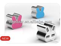 """Rabbit"" Aluminum 4 Ports USB Hub"