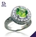 parlak şeffaf yeşil taş gümüş moldavite yüzük takı