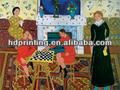 El arte moderno, pintura al óleo abstracta para sala de estar