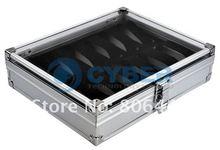 New 12 Grid Watches Storage Case Display Box Jewelry Aluminium Square