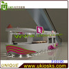 2013 supply white baking paint customized 5*3m indoor juice bar kiosk juice bar juice kiosk