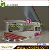 2013 supply white baking paint customized 5*3m indoor juice bar kiosk juice bar juice kiosk