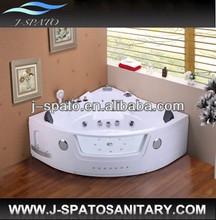 Corner Whirlpool Massage Bathtub With Plate