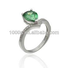 Fashion Diamond Ring Silver Skull Ring