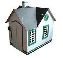 Two storey Cardboard playhouse the body building house fleet farm toys children game
