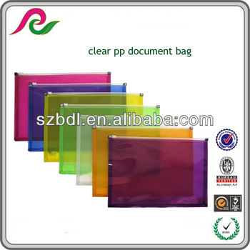 Export goods a5 size polypropylene zipper file folder