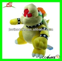 """LE h2048 nintendo super mario brothers bros party bowser 10"""" plush doll"""