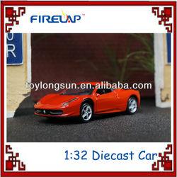 1:32 pull back alloy casting model car 3 colors assorted