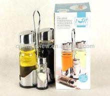salt and pepper rack set glass oil and vinegar cruet sets