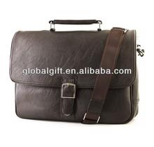 New Durable Soft Leather Mens Laptop Business Briefcase Shoulder Messenger Bag