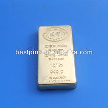 24K gold bar paper weight ,customize paper weight