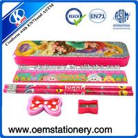 cute pencil case / oem stationery kits/school stationery set