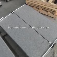 Outdoor granite g654 sesame black granite step