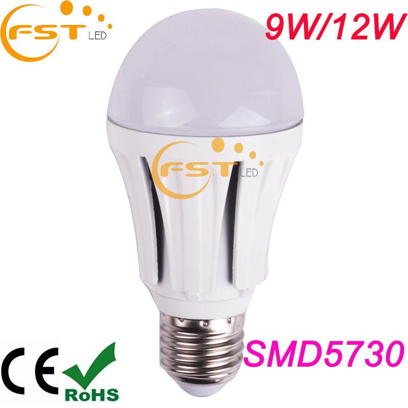 High lumens low cost led bulb light 85-265V SMD5730 720lm 9W 180degree