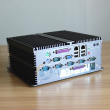 china aluminum dual core mini pc box with COM/LPT/PCI