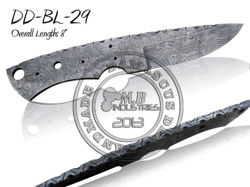 Damascus Steel Knife Blanks Damascus Steel Knife Blade