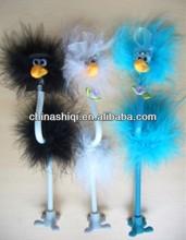 Crazy feather ostrich pen