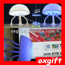 OXGIFT 2014 hot sales LED jellyfish lamps Eco-friendly hotel or home decration night light ------ factory supply
