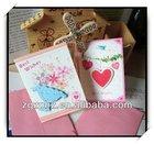 2014 wholesale balloon/flower/love creative handmade kids greeting card
