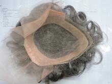 synthetic fiber and human hair fashion mono top wig, mono men toupee wig