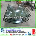 Segurança skylight isolados vidro curvo temperado com como/nzs 2208 ccc e certificação e normas