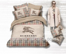 Cotton screen print brand bedding duvet cover set