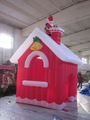 Venta caliente nuevo diseño de la navidad inflable/casa de navidad