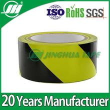 vivid colors yellow & black general industrial self-adhesive warning tape