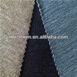 Indigo dye cotton bamboo spandex knitting denim rib