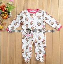 Carter baby long sleeve romper, lovely monkey baby clothes