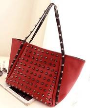 Newly arrival elegant brand women leather nucelle bag,leather rivet handbag