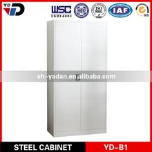 Two door wooden color steel furniture metal bedroom cupboard design office hotel school furniture