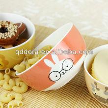 cartoon ceramic bowl,rabbit ceramic bowl,high quality ceramic bowl