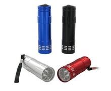 Ultra Bright Heavy Duty 9 LED Aluminum Flashlight aluminum mini led torch with logo